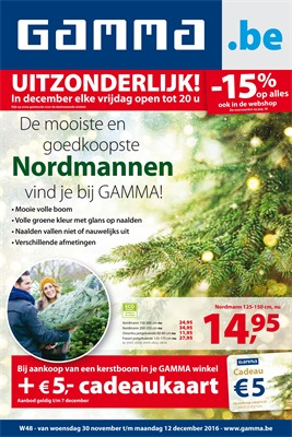 Gamma folder van 30/11/2016 tot 12/12/2016 - Weekaanbiedingen