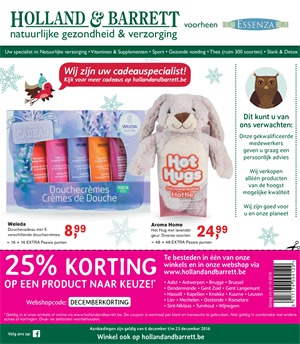Holland & Barrett folder van 06/12/2016 tot 25/12/2016 - Promoties december