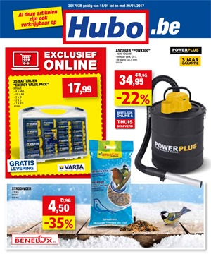 Hubo folder van 18/01/2017 tot 29/01/2017 - Weekaanbiedingen