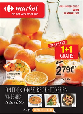 Carrefour Market folder van 01/02/2017 tot 07/02/2017 - Weekaanbiedingen