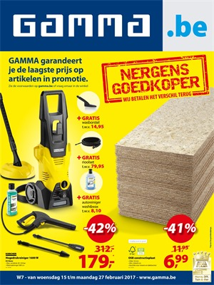 Gamma folder van 15/02/2017 tot 27/02/2017 - Weekaanbiedingen