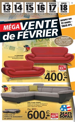 Folder Seats and Sofas du 13/02/2017 au 18/02/2017 - Offre de la semaine