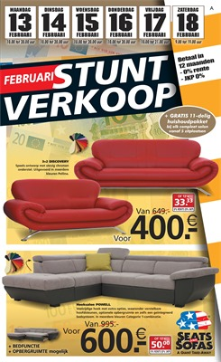 Seats and Sofas folder van 13/02/2017 tot 18/02/2017 - Weekaanbiedingen