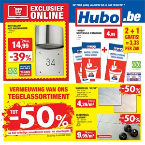 Hubo folder van 08/02/2017 tot 19/02/2017 - Weekaanbiedingen
