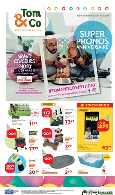 Folder Tom & Co du 02/03/2017 au 15/03/2017 - SUPER PROMOS ANNIVERSAIRE