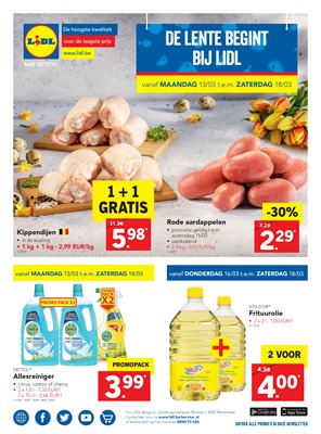 Lidl folder van 13/03/2017 tot 18/03/2017 - Weekaanbiedingen