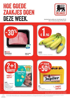 Delhaize folder van 09/03/2017 tot 15/03/2017 - Weekaanbiedingen