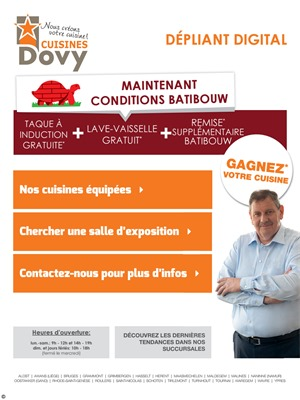 Folder Cuisines Dovy du 01/03/2017 au 31/03/2017 - Conditions batbouw