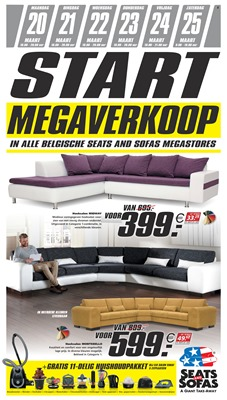 Seats and Sofas folder van 20/03/2017 tot 25/03/2017 - Weekaanbiedingen