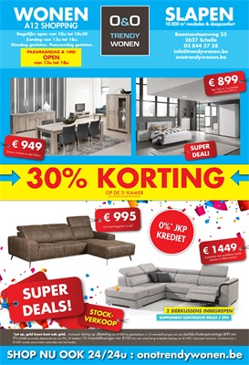 O&O Trendy Wonen folder van 20/03/2017 tot 07/05/2017 - Super Deals stockverkoop