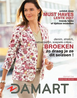 Damart folder van 21/03/2017 tot 30/06/2017 - Must haves lente 2017