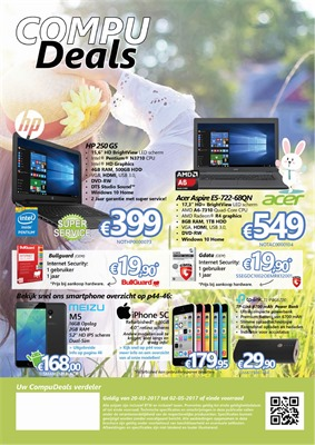 Compudeals folder van 20/03/2017 tot 02/05/2017 - Aanbiedingen April