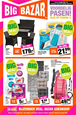 Big Bazar folder van 27/03/2017 tot 02/04/2017 - Weekaanbiedingen