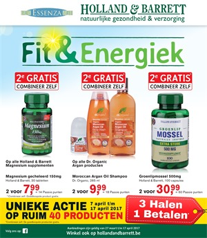 Holland & Barrett folder van 27/03/2017 tot 17/04/2017 - Weekaanbiedingen