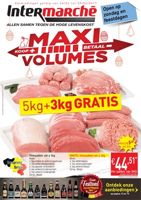Intermarché folder van 04/04/2017 tot 09/04/2017 - Weekaanbiedingen - Maxi volumes