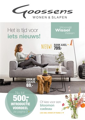 Goossens Design Bank.Goossens Wonen Slapen Folder Weekaanbiedingen