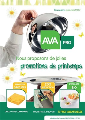 Folder Ava du 01/04/2017 au 31/05/2017 - Promotions de printemps