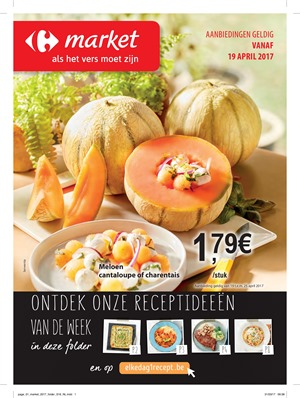 Carrefour Market folder van 19/04/2017 tot 25/04/2017 - Weekaanbiedingen