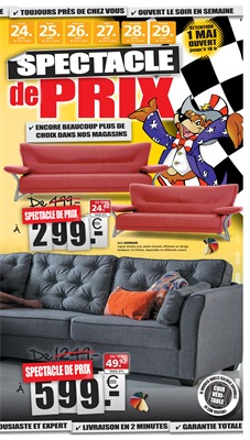 Folder Seats and Sofas du 24/04/2017 au 29/04/2017 - Offre de la semaine