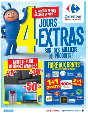 Folder Carrefour du 26/04/2017 au 29/04/2017 - Jours extras