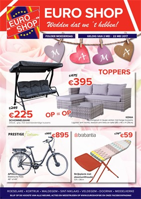 Euroshop folder van 02/05/2017 tot 22/05/2017 - folder moederdag