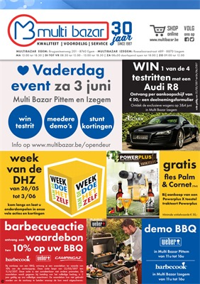 Multi Bazar folder van 22/05/2017 tot 04/06/2017 - Vaderdag folder