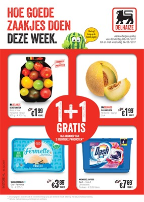 Delhaize folder van 08/06/2017 tot 14/06/2017 - Weekaanbiedingen