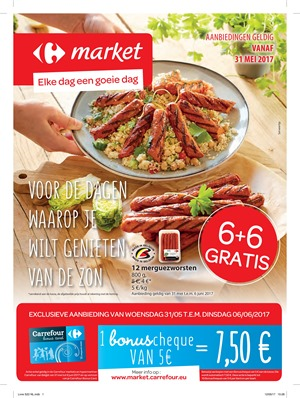 Carrefour Market folder van 31/05/2017 tot 06/06/2017 - Weekaanbiedingen