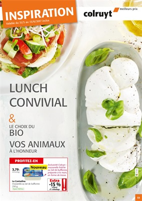 Folder Colruyt du 31/05/2017 au 13/06/2017 - LUNCH CONVIVIAL
