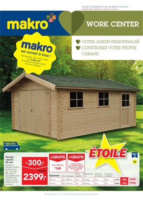 Folder Makro du 31/05/2017 au 13/06/2017 - Workcenter
