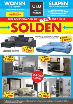 O&O Trendy Wonen folder van 01/07/2017 tot 20/08/2017 - Solden folder