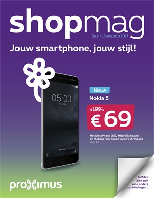 Proximus folder van 03/07/2017 tot 13/08/2017 - Shopmag juli 2017
