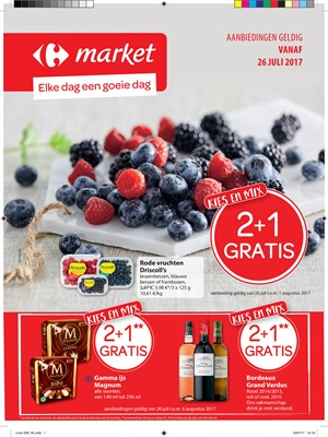 Carrefour Market folder van 26/07/2017 tot 06/08/2017 - Weekaanbiedingen