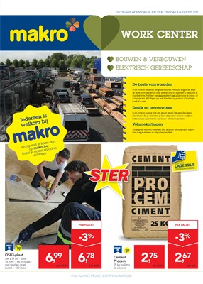 Makro folder van 26/07/2017 tot 08/08/2017 - Workcenter