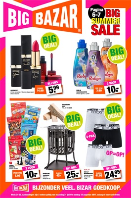 Big Bazar folder van 31/07/2017 tot 13/08/2017 - Big Deals