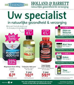Holland & Barrett folder van 07/08/2017 tot 27/08/2017 -