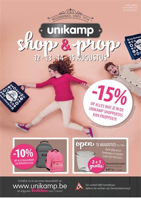 Unikamp folder van 07/08/2017 tot 03/09/2017 - Shop & Prop