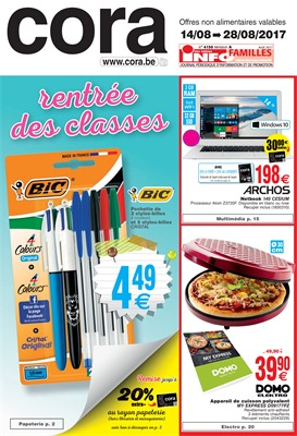 Folder Cora du 14/08/2017 au 28/08/2017 - Rentrée des classes