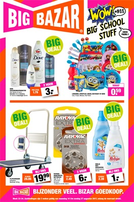 Big Bazar folder van 14/08/2017 tot 27/08/2017 - Big Deals