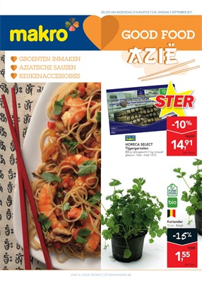 Makro folder van 23/08/2017 tot 05/09/2017 - Good Food