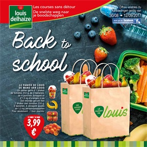 Louis Delhaize folder van 30/08/2017 tot 12/09/2017 - Back to School