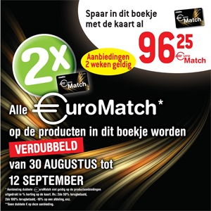 Match folder van 30/08/2017 tot 12/09/2017 - Euromatch