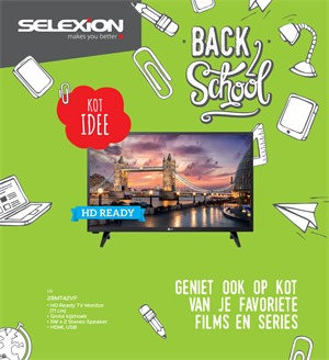 Selexion folder van 28/08/2017 tot 30/09/2017 - Back to School - TV & audio