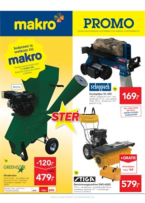 Makro folder van 06/09/2017 tot 18/09/2017 - Promo non food