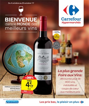 Folder Carrefour du 04/10/2017 au 23/10/2017 - Vins
