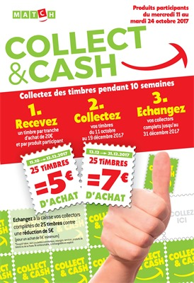 Folder Match du 11/10/2017 au 24/10/2017 - Collect & cash