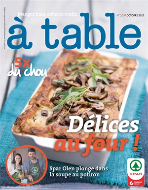 Folder Spar du 01/10/2017 au 31/10/2017 - A Table octobre
