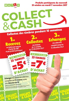 Folder Match du 25/10/2017 au 07/11/2017 - COLLECT &CASH