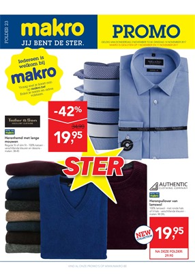 Makro folder van 01/11/2017 tot 14/11/2017 - Non food promo