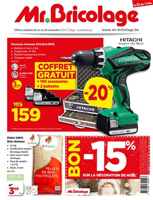 Folder Mr Bricolage du 14/11/2017 au 26/11/2017 -